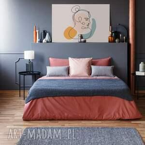 VAKU DSGN obraz na płótnie - minimalizm portret linie - 120x80 cm (96302) kobieta
