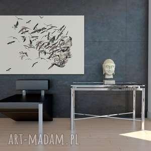 twarz szare obraz na płótnie - portret ptaki