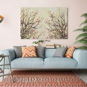 kolorowy obraz na płótnie - drzewo gałęzie