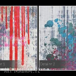 kolorowy obraz na płótnie - abstrakcja usta