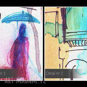 parasole obraz na płótnie - ludzie miasto