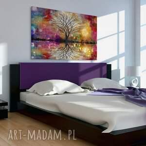 kolory obrazy obraz na płótnie - drzewo kolorowy
