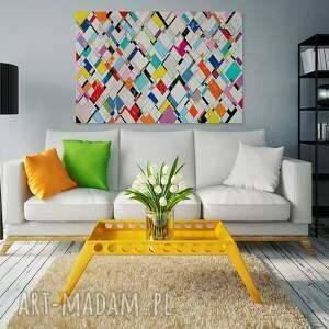 harlekin obrazy obraz na płótnie - romby kolorowy