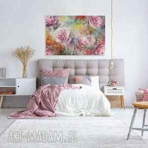 różowe obrazy róża obraz na płótnie - róże kolorowy
