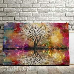 obrazy kolory obraz na płótnie - drzewo kolorowy