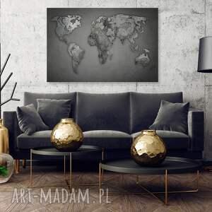 kontynenty obraz na płótnie - mapa świata