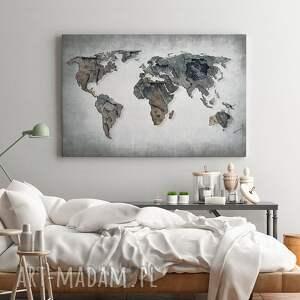 mapa obrazy szare obraz na płótnie - świata