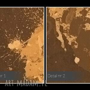 oryginalne obraz na płótnie - mapa beże brązy
