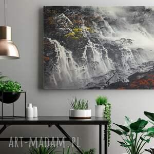 wodospad białe obraz na płótnie - pejzaż
