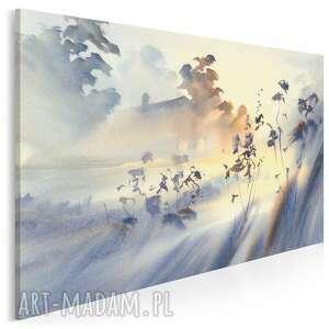 krajobraz obraz na płótnie - mgła pejzaż