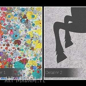 oryginalne obrazy kropki obraz na płótnie - jeleń kolory