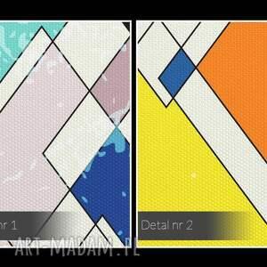 obrazy harlekin obraz na płótnie - romby kolorowy