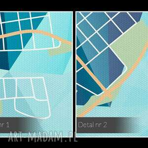 obrazy sieć obraz na płótnie - kształty siatka