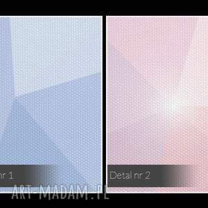 obrazy kształty obraz na płótnie - kryształ lila