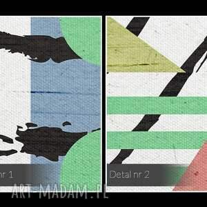 hand-made obrazy kształty obraz na płótnie - abstrakcja