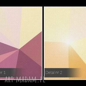trendy obrazy kształty obraz na płótnie - kryształ różowy