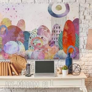 abstrakcja obraz na płótnie - pejzaż kolorowy