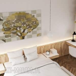 drzewo brązowe obraz na płótnie - brązowy