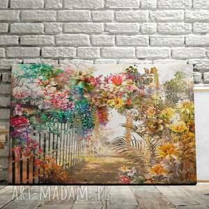 niepowtarzalne kwiaty obraz na płótnie - ogród
