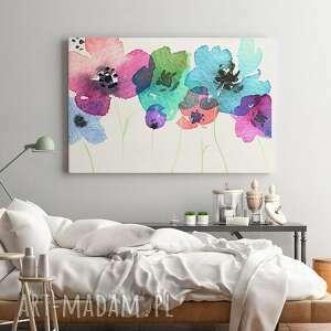 obraz na płótnie - polne kwiaty - 120x80 cm (54601) - łąka