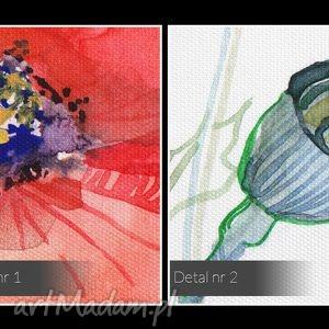 łąka obraz na płótnie - maki kwiaty