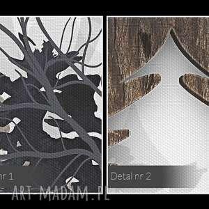 las obraz na płótnie - drewno deski