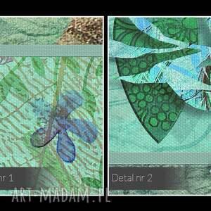 handmade obrazy las obraz na płótnie - drzewa liście