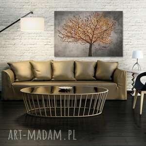 brązowe liście obraz na płótnie - drzewo