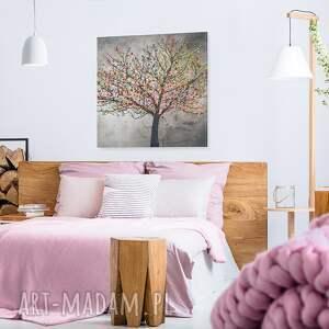 kolorowe obraz na płótnie - drzewo liście