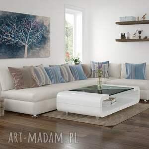 białe obraz na płótnie - drzewo pejza&#380