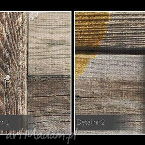 handmade obrazy liście obraz na płótnie - serca drewno
