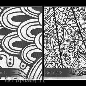 hand made obrazy mandala obraz na płótnie - ptak wzory