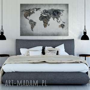 urokliwe obrazy mapa obraz na płótnie - świata