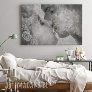 obrazy miłość obraz na płótnie - pocałunek beton