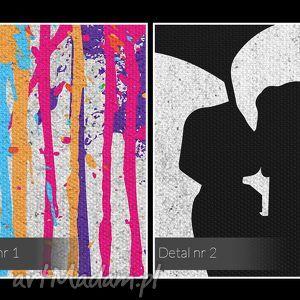 unikalne obrazy miłość obraz na płótnie - deszcz kolory