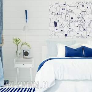 minimalizm obraz na płótnie - domki