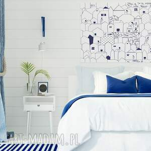 minimalizm obrazy obraz na płótnie - domki
