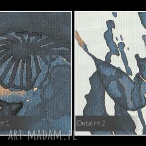 intrygujące nowoczesny obraz na płótnie - kwiat mak