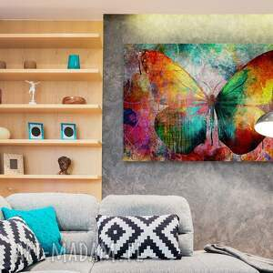 oryginalne obrazy motyl obraz na płótnie - kolorowy