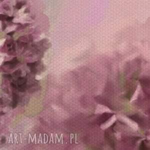 różowe natura obraz na płótnie 120x50 - czosnek