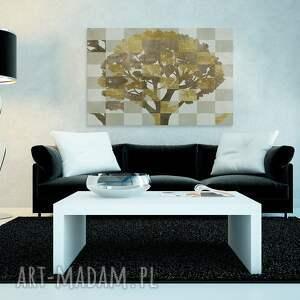 złote natura obraz na płótnie - drzewo brązowy