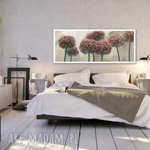 Obraz na płótnie 120x50 - Kwiaty czosnku 0326 wysyłka w 24h natura