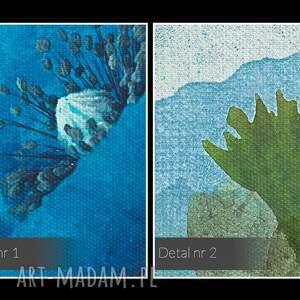 oryginalne rośliny obraz na płótnie - niebieskie maki