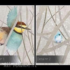 niekonwencjonalne drzewa obraz na płótnie - ptaki