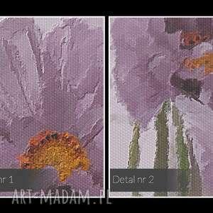 obrazy bukiet obraz na płótnie - fioletowy