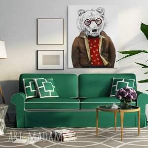 intrygujące obrazy niedźwiedź obraz na płótnie - 60x80cm