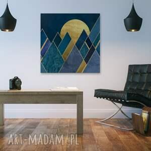 VAKU DSGN niebieskie trójkąty design: piękny obraz o nowoczesnym
