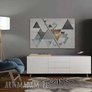 trójkąty białe obraz na płótnie - abstrakcja