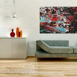 abstrakcja czerwone obraz na płótnie
