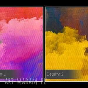 VAKU DSGN obraz na płótnie - kolorowe chmury - 120x80 cm (22001) - kolory nowoczesny